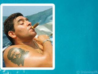 Maradona aux Maldives