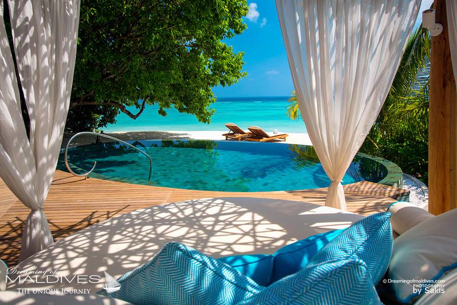Milaidhoo Maldives Le nid Lounge des Villas sur Plage
