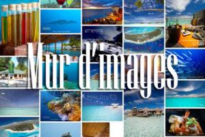 Mur d'images des Iles Maldives