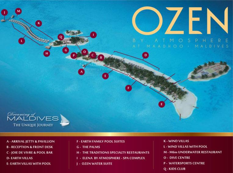 Plan de l'Hôtel OZEN at Maadho Maldives