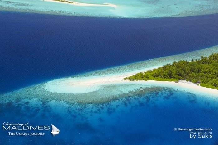 Photo aérienne des Iles Maldives
