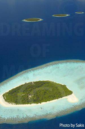 Photo aérienne des Maldives - Iles Emeraudes