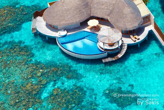 W Retreat and Spa Maldives - Vue Aérienne sur la Ocean Haven