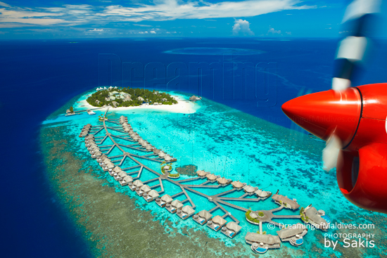 W Retreat and Spa Maldives - Arrivée en hydravion...Vue Aérienne de l'Ile