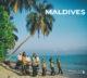 Vintage Photo Vintage des Maldives. femmes maldiviennes dansant sur la plage sur Bodu Boru