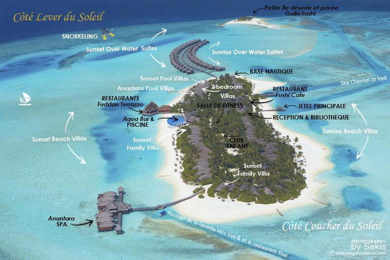 Carte aérienne d'anantara dhigu maldives