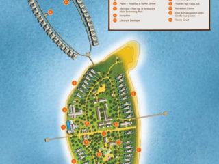 Plan de l'Île-Hôtel d'Anantara Kihavah Maldives