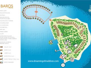 Plan de l'hôtel Baros Maldives