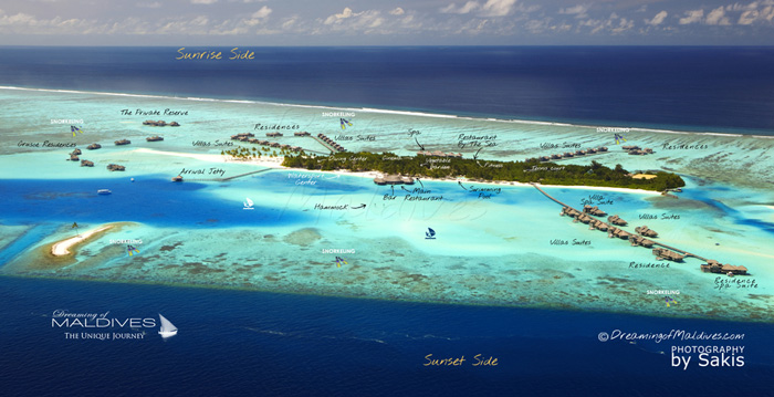Carte Aérienne de Gili Lankanfushi Maldives
