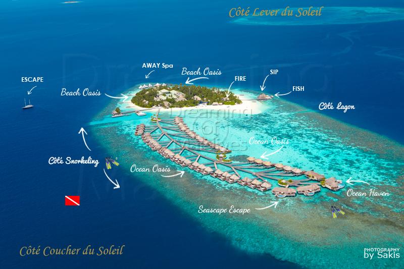 Carte aérienne de W Maldives