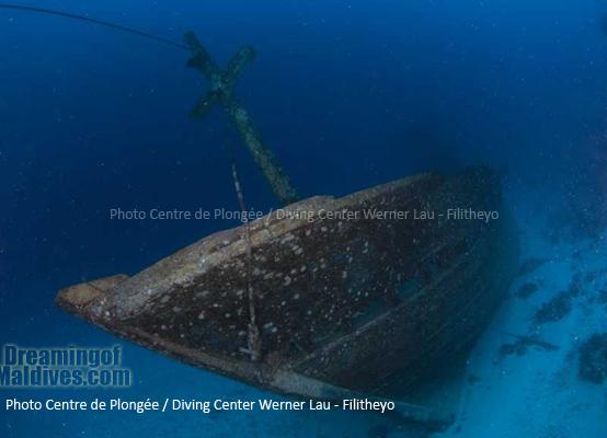l'Epave du KM AGRO MINA II – Plongée Filitheyo Maldives