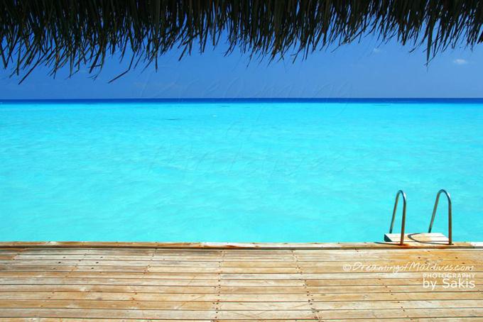 Il fait chaud ! On fait tous PLOUF ! Photo du Jour aux Maldives