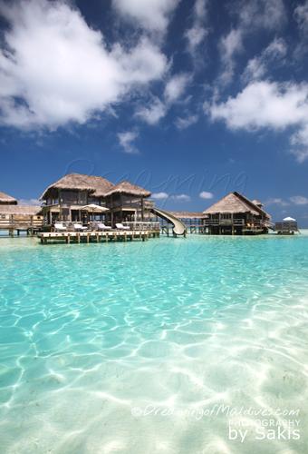 La Plus Grande Villa sur Pilotis au Monde. le toboggan - La Private Reserve, Gili Lankanfushi Maldives