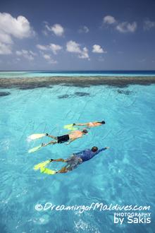 La Plus Grande Villa sur Pilotis au Monde. Plongee avec guide- La Private Reserve, Gili Lankanfushi Maldives
