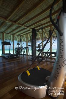 Salle de Gym de la Private Reserve- Gili Lankanfushi Maldives | Photo Sakis Papadopoulos