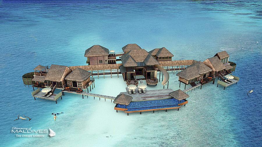 La Plus Grande Villa sur Pilotis au Monde, The Private Reserve, se dote d'une piscine sur lagon