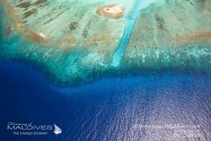 Récifs de Corail des Maldives vus du ciel