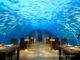 Restaurant sous-marin du Conrad Maldives Rangali Island. Ithaa