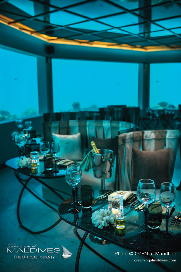 M6m restaurant sous-marin OZEN at Maadhoo Tout Inclu Maldives