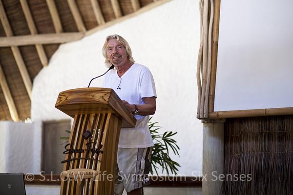 Richard Branson au séminaire sur l'environnement Slow life 2011 du Soneva Fushi Maldives