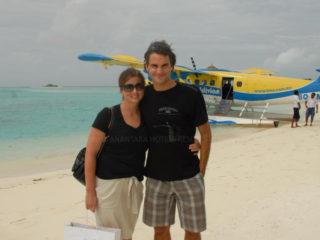 Roger Federer et sa femme Mirka aux Maldives