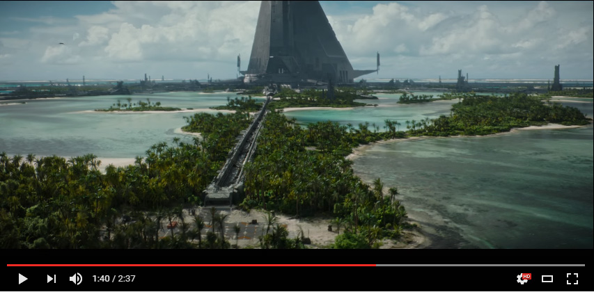 tournage star Wars Rogue one Maldives planète scarif