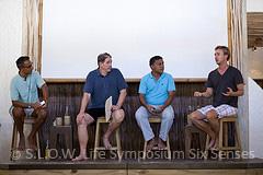 Edward Norton, Sonu Shivdasani, Jonathon Porrit et Mohamed Aslam