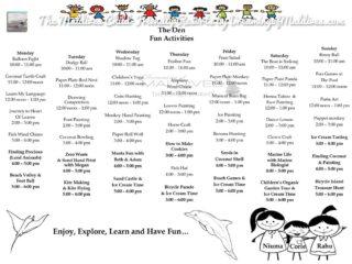 Le Programme et les activités du club-enfant à  Six Senses Laamu