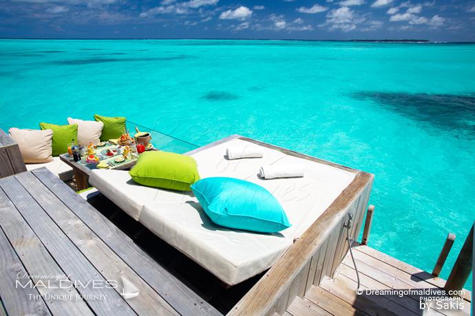 Six Senses Laamu Maldives meilleur Hotel pour le Snorkeling . Les Récifs de l'Ile - villa