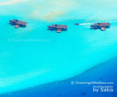 Une vue aérienne unique sur Soneva Gili Maldives, prochainement rebaptisée Gili Lankanfushi Maldives