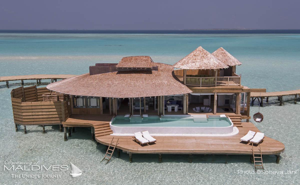 Nouvelles Photos et détails de Rêve sur le nouvel Hôtel de Soneva aux Maldives, Soneva Jani