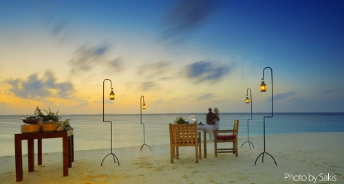 La St Valentin aux Maldives