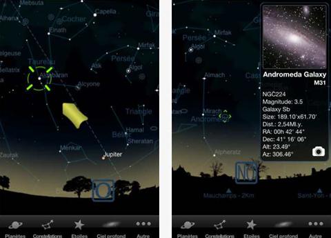 Starmap l'Application Planétarium observation des étoiles