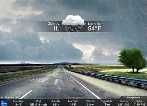 Application gratuite prévision météo The Weather Channel