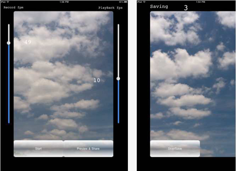 Application Time-Lapse HD pour iPad