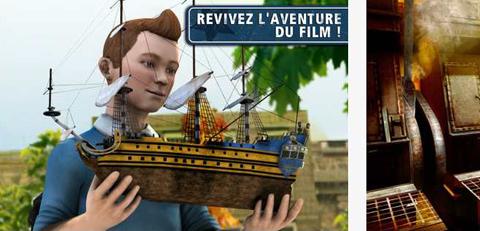 Tintin et le Secret de la Licorne - Le jeu pour iPhone et iPad.