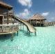 Le Toboggan Géant Pour Glisser Dans Le Lagon à Gili Lankanfushi Maldives