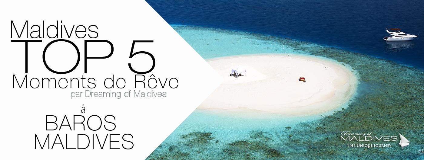5 choses incontournables à faire à l'Hôtel Baros Maldives