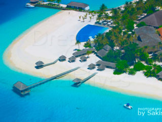 Velassaru Maldives photo aerienne