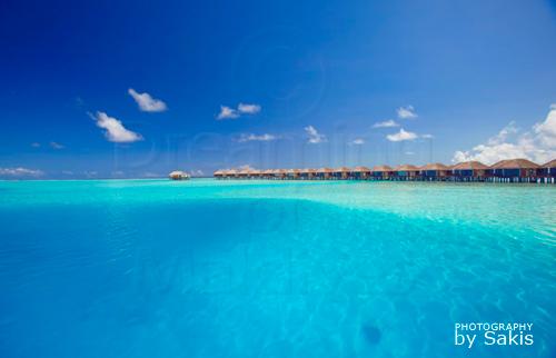 Velassaru Maldives nouvelles Water Villas sur le grand lagon bleu