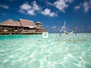 Vidéo de Gili Lankanfushi Maldives, élu Meilleur Hôtel au Monde. Votes 2015 par Tripadvisor Prix Voyageurs