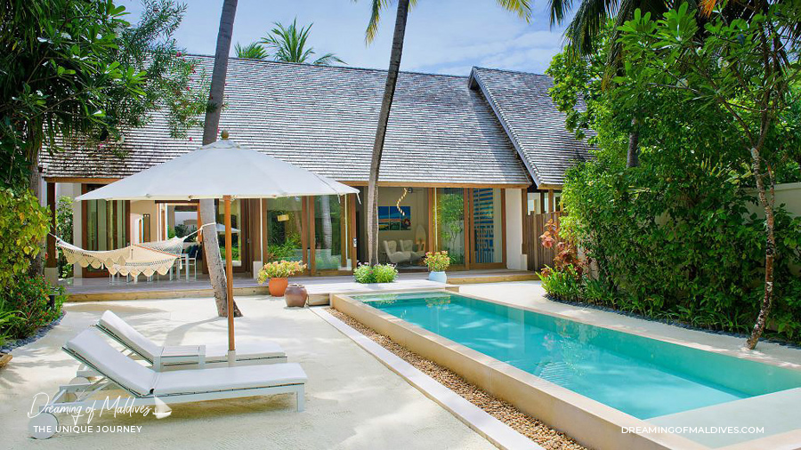 Les plus belles villas sur plage aux Maldives. La Suite sur Plage à Conrad Maldives Rangali Island. The Beach Suite