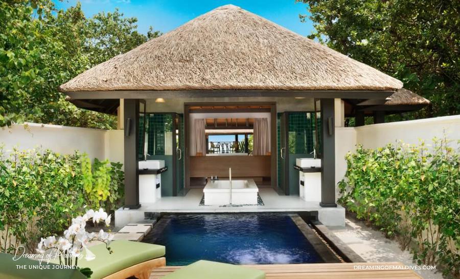 Les plus belles villas sur plage aux Maldives Le Bungalow sur Plage avec piscine à JA Manafaru Beach Bungalow with Private Pool