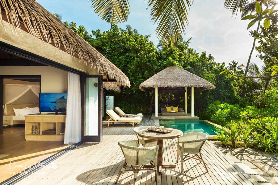 Les plus belles villas sur plage aux Maldives . La Villa Sur Plage à 2 chambre avec piscine à COMO Maalifushi Two-Bedroom Villa With Pool