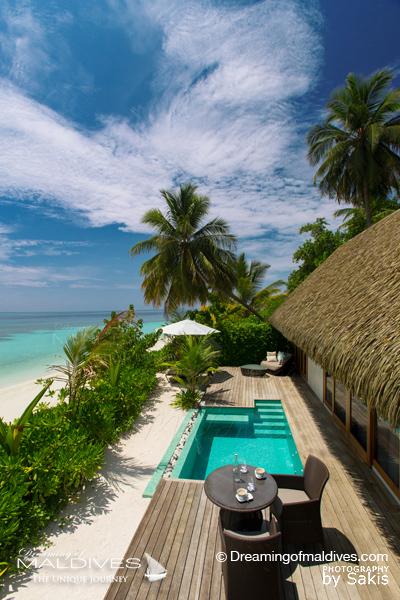 Les plus belles villas sur plage aux Maldives . La Villa sur Plage avec Piscine à Kandolhu Pool Villa