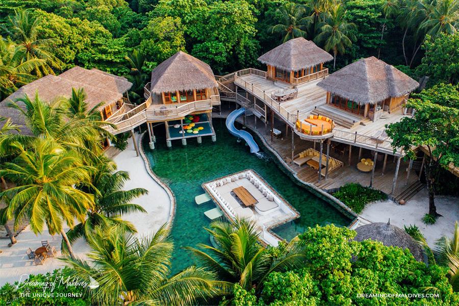 Les plus belles villas sur plage aux Maldives La Réserve Privée à Soneva Fushi The Private Reserve