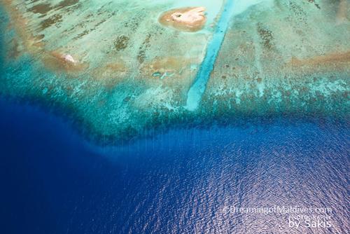 Les Maldives vues du ciel...toujours spectaculaire.