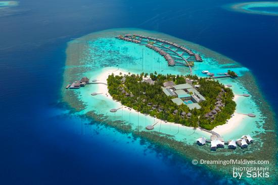 W Retreat and Spa Maldives - Vue Aérienne de l'Ile