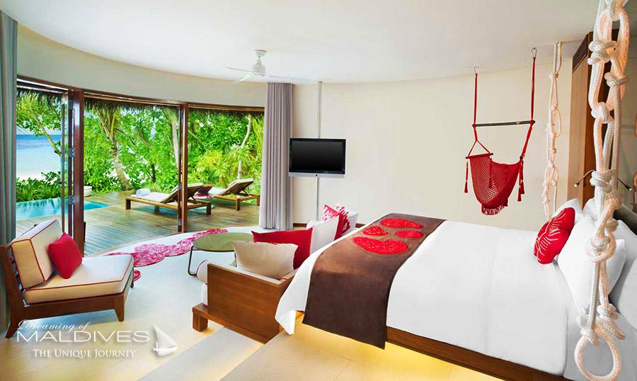 les Villas les plus sexy pour un sejour romantique aux maldives. W Maldives
