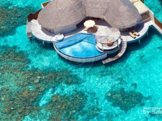 W Retreat and Spa Maldives, Ocean Haven , vue aerienne